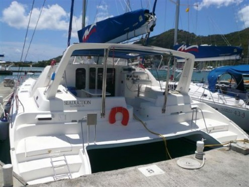 Preowned Sail Catamarans for Sale 2005 Leopard 47 Deck & Equipment